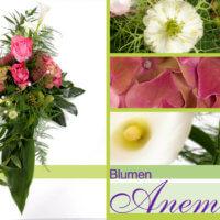 Blumengesteck für Tischdekoration bei Blumen Anemone in München