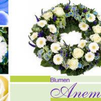 Blumenkranz bei Blumen Anemone in München-Obergiesing