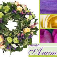 Blumenkranz bei Blumen Anemone