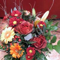 Strauss Mit Chrysanthemen Und Rosen